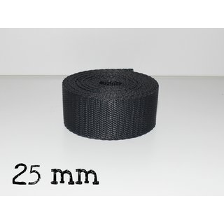 1m Gurtband 25mm - ANTHRAZIT (023)