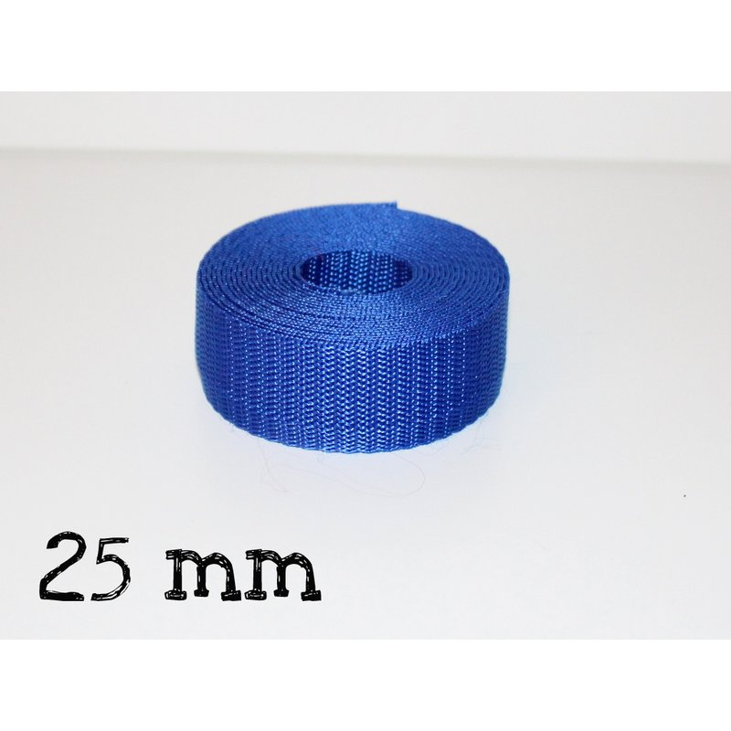 1m Gurtband 25mm - ROYAL BLAU (016)