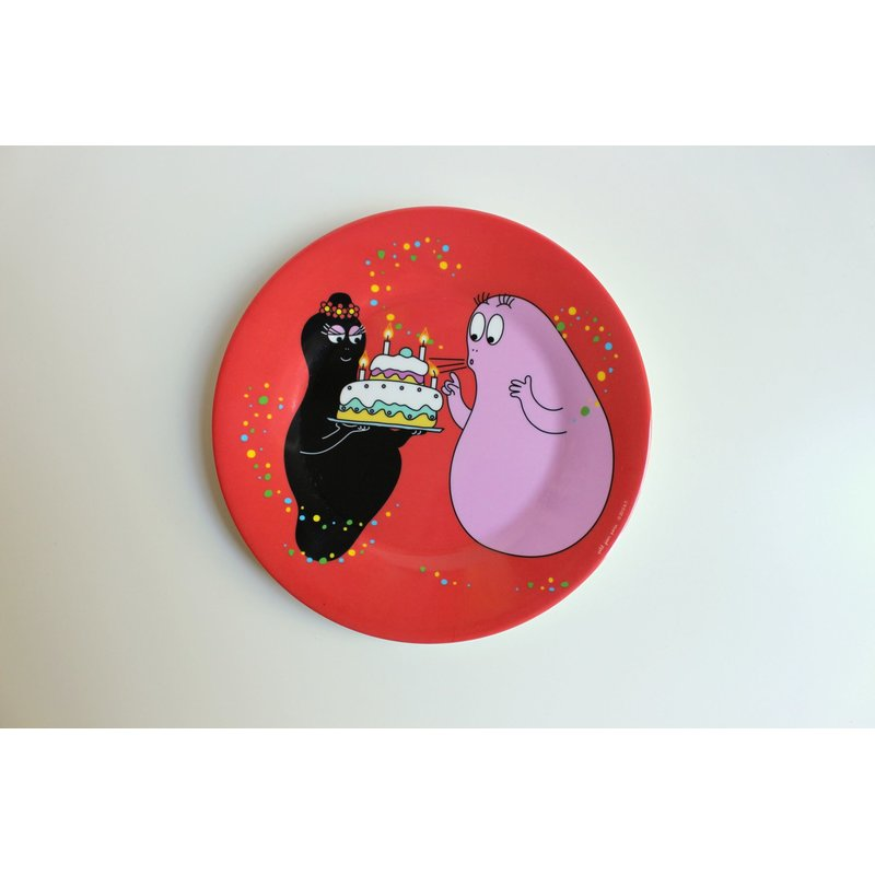 Teller - BARBAPAPA Happy Birthday ROT - Petit Jour Paris