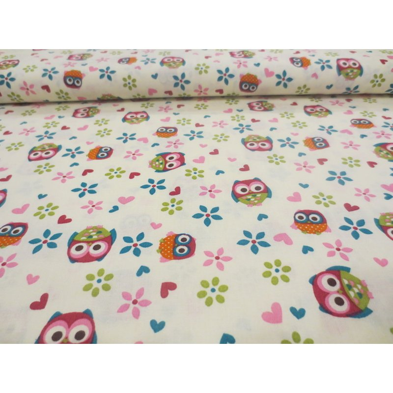 OWLS AND FLOWERS - creme - USA Eule