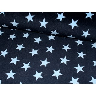 Wellness Fleece FLUFFY STARS - MARINE / hellblau