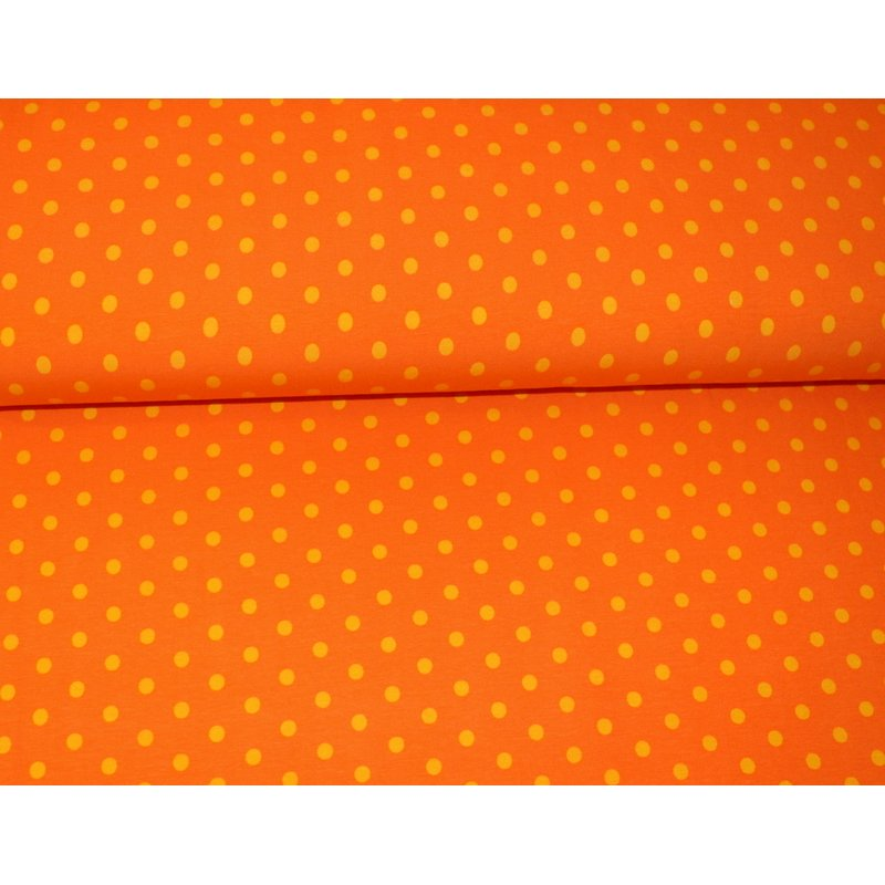 Jersey Basic Dots M - ORANGE mit GELB Punkten