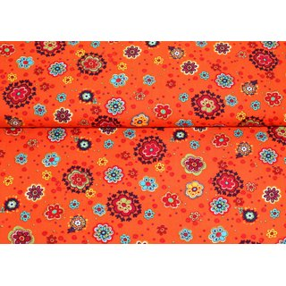 Burst my Bubble - Blumen ORANGE - Baumwolle