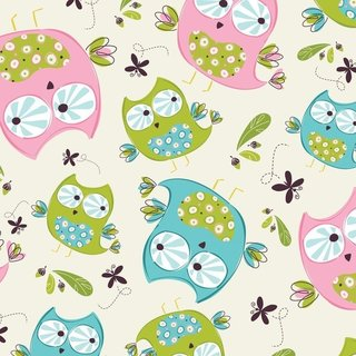 REST 0,50m - Whoo´s Cute Cotton - Eulen WEISS - US