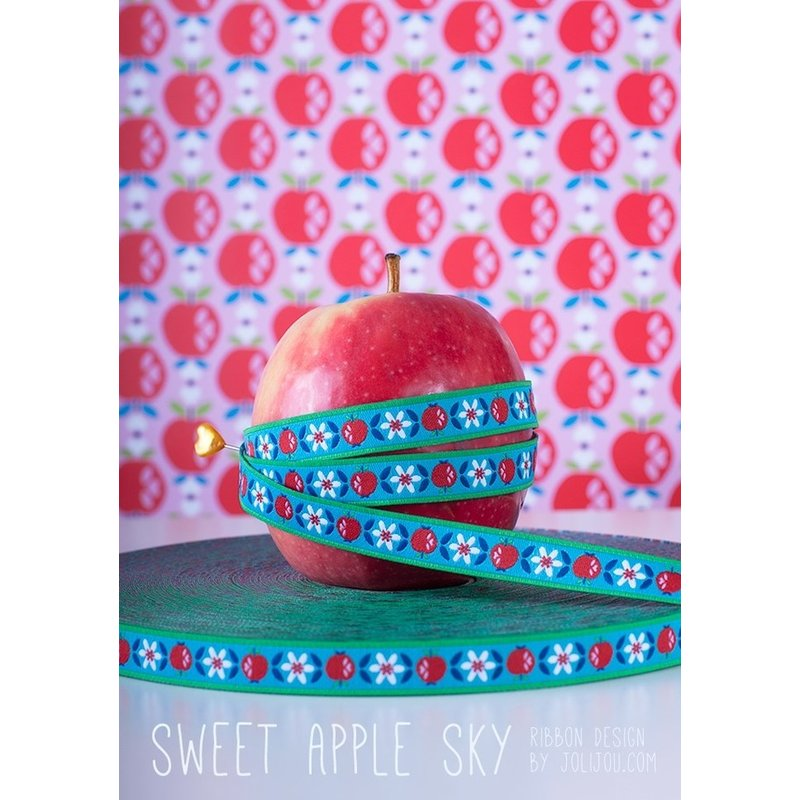Webband - SWEET APPLE SKY blau - farbenmix