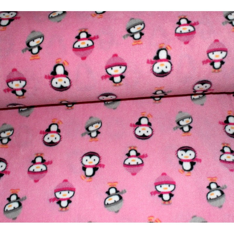 Fleece coole Pinguine - ROSA
