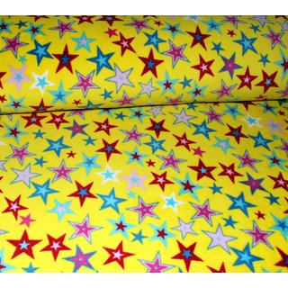 Wellness Fleece - SPARKLING STARS - GELB