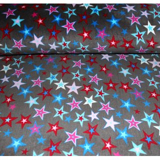 Wellness Fleece - SPARKLING STARS - GRAU