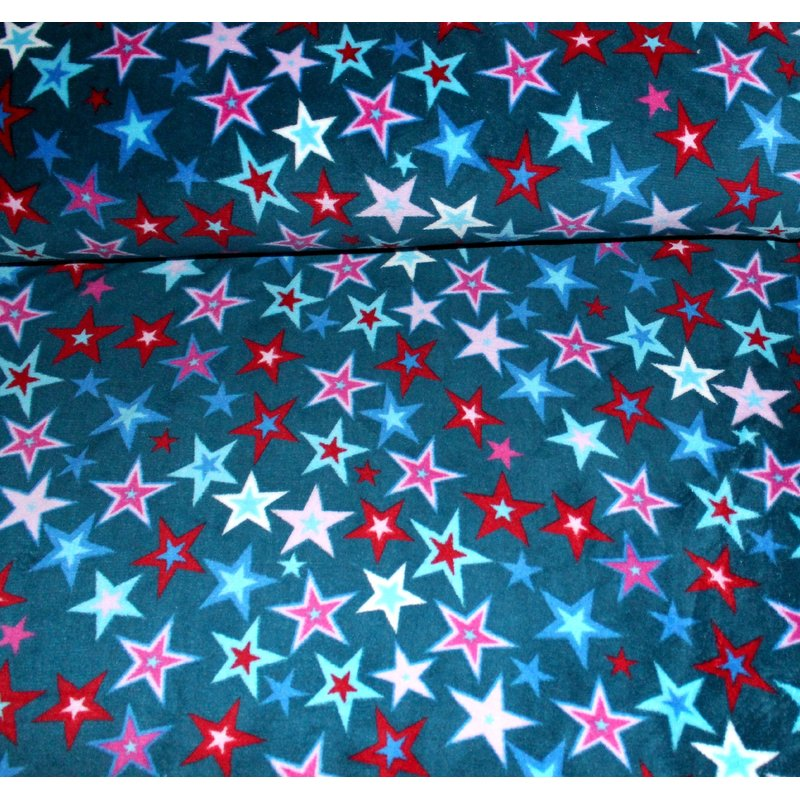 Wellness Fleece - SPARKLING STARS - PETROL