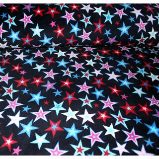 Wellness Fleece - SPARKLING STARS - DUNKELBLAU
