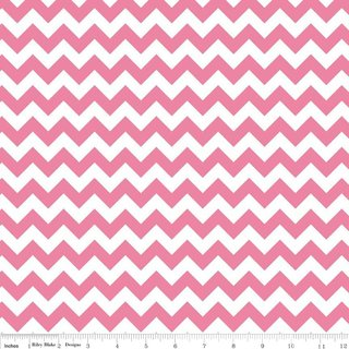 Cotton Chevron - HOT PINK small - Riley Blake