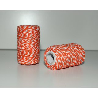 22,5m Bakers Twine - ORANGE / WEISS