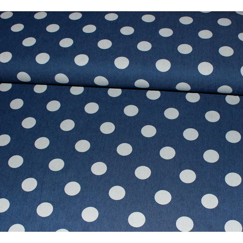 Stretch Jeans - BIG DOTS - blau