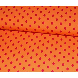 Jersey Basic Dots M - ORANGE mit ROT Punkten