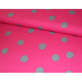 Jersey - farbenmix special INK DOTS - pink