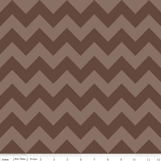 Cotton Chevron - BRAUN medium - Riley Blake