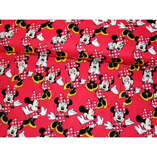 MINNIE MOUSE POSES - rot - Baumwolle