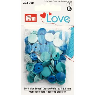 PRYM love 393000 - 30x Color Snaps - BLAU-Töne