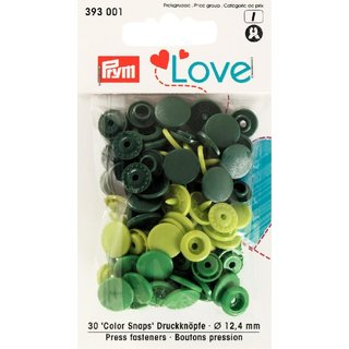 PRYM love 393001 - 30x Color Snaps - GRÜN-Töne