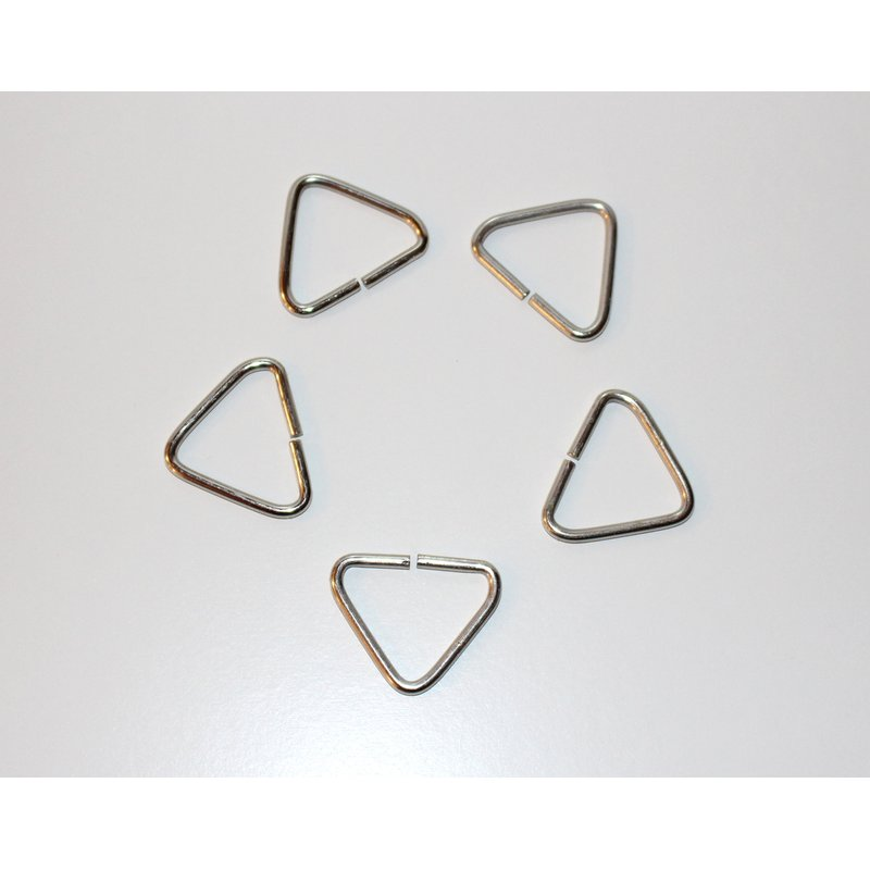 5x Triangle Ring / Schlaufe 40mm - SILBER