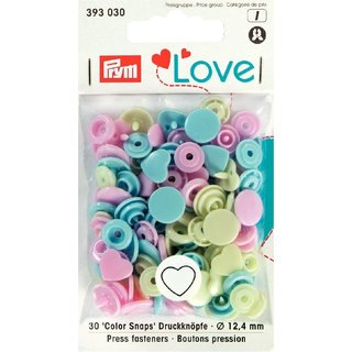 PRYM love 393030 - 30x Color Snaps - HERZ Mix