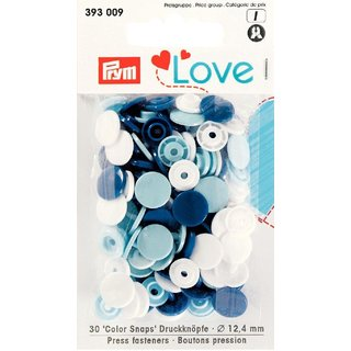 PRYM love 393009 - 30x Color Snaps - BLEU-Töne
