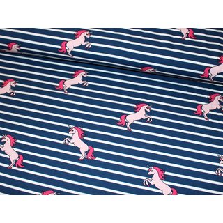 Jersey - UNICORN STRIPES - NAVY / weiß