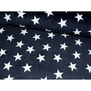 Wellness Fleece FLUFFY STARS - MARINE / weiß