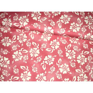 HULA GIRL - Hybiscus Floral Hawaiian pink - BW