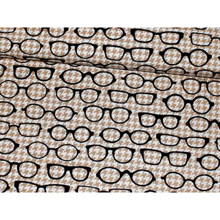 FOX AND THE HOUNDSTOOTH - Glasses - gold weiß