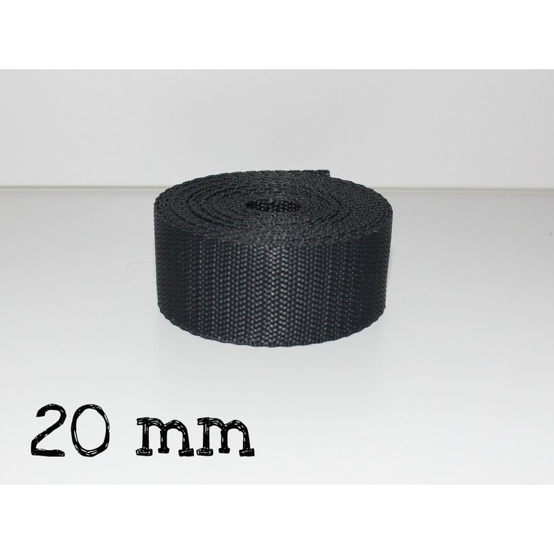 1m Gurtband 20mm - ANTHRAZIT (023)