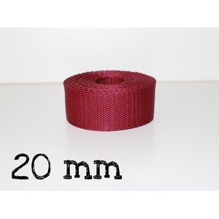 1m Gurtband 20mm - BORDEAUX (005)